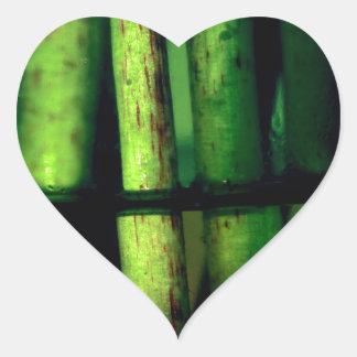 Pegatina En Forma De Corazón Macro verde