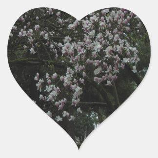 Pegatina En Forma De Corazón Magnolias para siempre