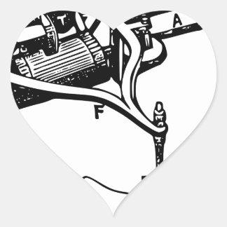Pegatina En Forma De Corazón Mano que repara el viejo dispositivo