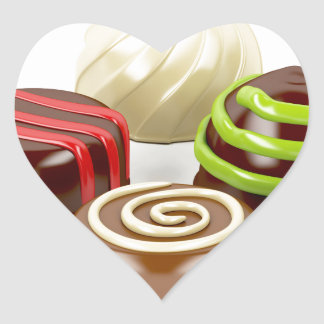 Pegatina En Forma De Corazón Mezcla de caramelos de chocolate