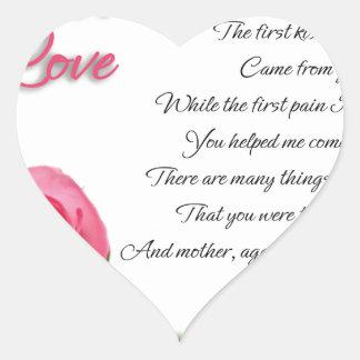 Pegatina En Forma De Corazón Mi primer arte de la poesía del amor de Stanley