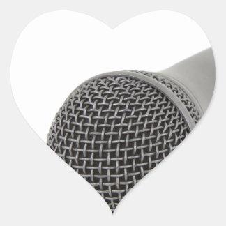 Pegatina En Forma De Corazón Micrófono - charla a mí