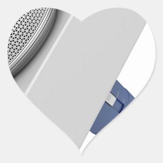 Pegatina En Forma De Corazón Micrófono del reportero