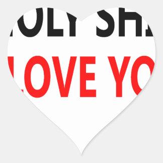 Pegatina En Forma De Corazón Mierda santa te amo (1)