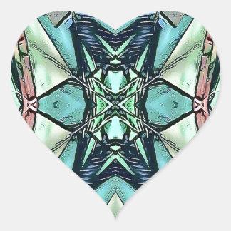 Pegatina En Forma De Corazón Modelo artístico del trullo del melocotón moderno