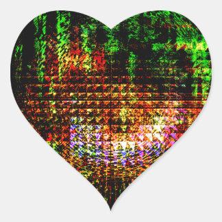 Pegatina En Forma De Corazón modelo del caleidoscopio del radar
