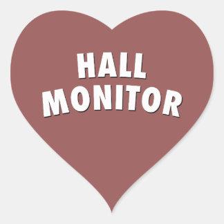 Pegatina En Forma De Corazón monitor del pasillo
