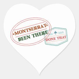 Pegatina En Forma De Corazón Montserrat allí hecho eso