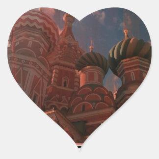 Pegatina En Forma De Corazón Moscow_russia