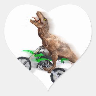 Pegatina En Forma De Corazón Motocicleta del rex de T - paseo del rex de t -