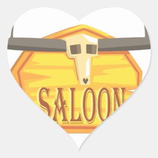 Pegatina En Forma De Corazón Muestra del salón con el dibujo de la cabeza
