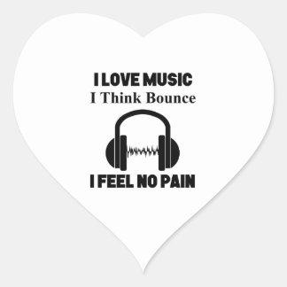 Pegatina En Forma De Corazón Música de la despedida