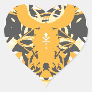 Pegatina En Forma De Corazón Némesis de la abstracción diez