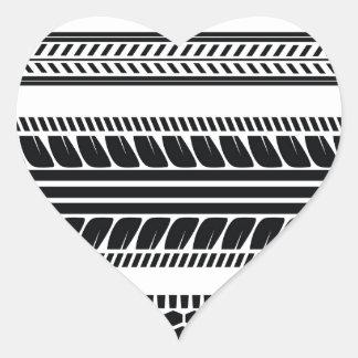 Pegatina En Forma De Corazón neumático de las impresiones