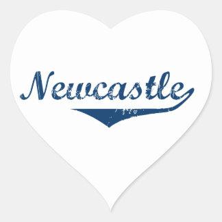 Pegatina En Forma De Corazón Newcastle