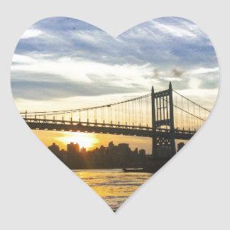 Pegatina En Forma De Corazón Nueva York