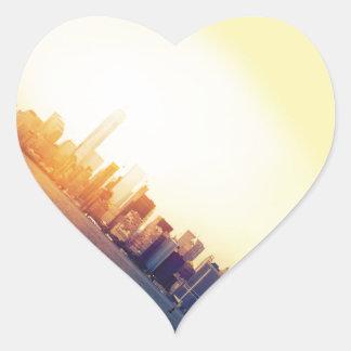 Pegatina En Forma De Corazón Nueva York Nueva York