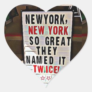 Pegatina En Forma De Corazón Nueva York, pegatinas del corazón de NY New York
