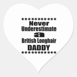Pegatina En Forma De Corazón Nunca subestime al papá de pelo largo británico
