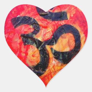 Pegatina En Forma De Corazón Ohmio