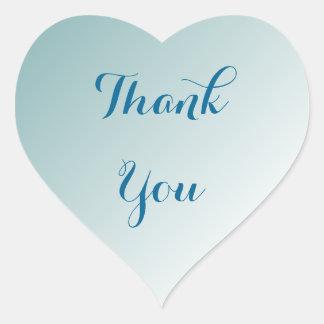 Pegatina En Forma De Corazón Ombre azul le agradece