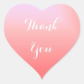 Pegatina En Forma De Corazón Ombre rosado le agradece