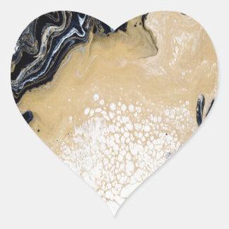 Pegatina En Forma De Corazón Oro negro