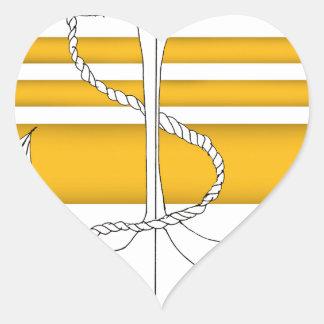 Pegatina En Forma De Corazón oro vicealmirante, fernandes tony