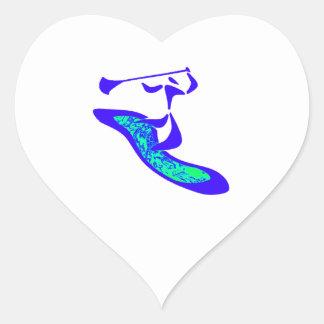 Pegatina En Forma De Corazón Paleta para arriba