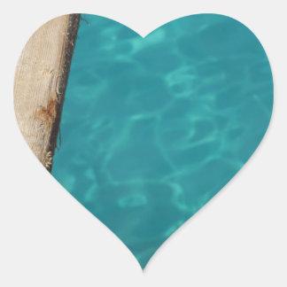 Pegatina En Forma De Corazón paraíso tropical