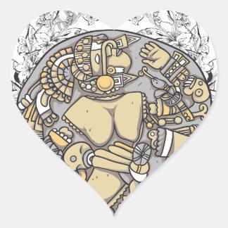 Pegatina En Forma De Corazón partes del cuerpo del vintage junto