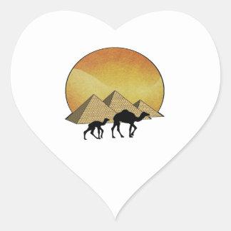 Pegatina En Forma De Corazón Paso egipcio