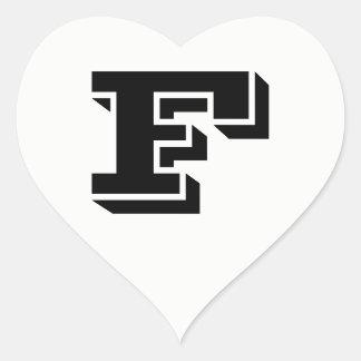 Pegatina En Forma De Corazón Pegatinas blancos del corazón de la fuente de la