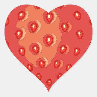 Pegatina En Forma De Corazón Pegatinas de la fresa (corazón)