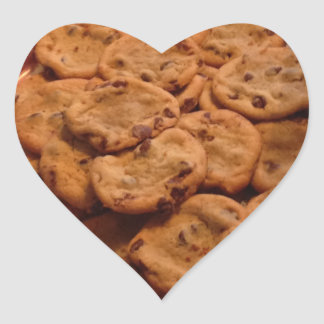 Pegatina En Forma De Corazón Pegatinas del corazón de las galletas de