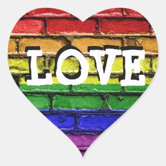 Pegatina En Forma De Corazón Pegatinas del corazón del amor de la pared de