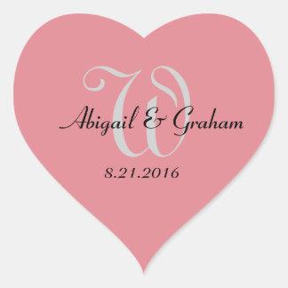 Pegatina En Forma De Corazón Pegatinas del corazón del boda