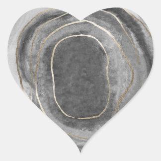 Pegatina En Forma De Corazón Pegatinas del favor del boda de la ágata de la
