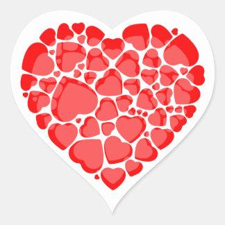 Pegatina En Forma De Corazón Pegatinas en forma de corazón.