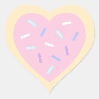 Pegatina En Forma De Corazón Pegatinas en forma de corazón de la galleta de