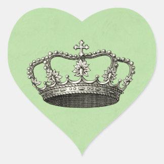 Pegatina En Forma De Corazón Pequeños favores verdes de la fiesta de bienvenida