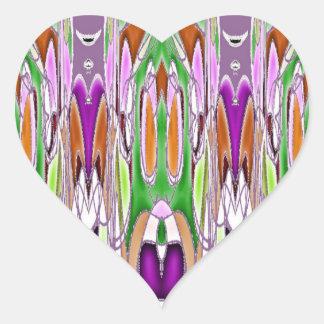 Pegatina En Forma De Corazón Permanece en contacto el tacto un corazón