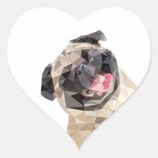 Pegatina En Forma De Corazón Perro precioso de las fregonas