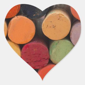 Pegatina En Forma De Corazón piense en color