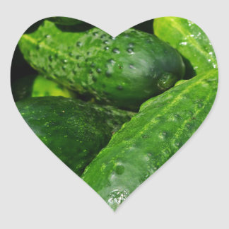 Pegatina En Forma De Corazón pila de los pepinos