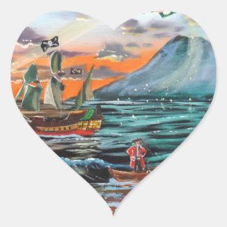 Pegatina En Forma De Corazón Pintura de Bell del chapucero de la ensenada del