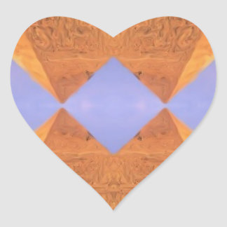Pegatina En Forma De Corazón Pirámides psicodélicas