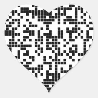 Pegatina En Forma De Corazón pixel