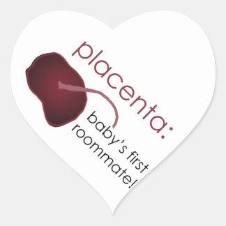 Pegatina En Forma De Corazón placenta, el primer compañero de cuarto del bebé