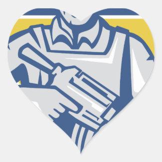 Pegatina En Forma De Corazón Poder ucraniano de la junta del ejército